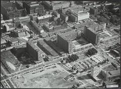 Lijnbaan en Karel Doormanstraat luchtfoto