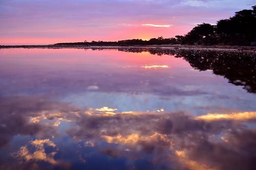 light sunset sea sky reflection beach night reflections evening coast nikon skies cloudy australia victoria shore inlet vic gippsland inverloch rockpools rockshelf andersonsinlet d5100 nikond5100 phunnyfotos