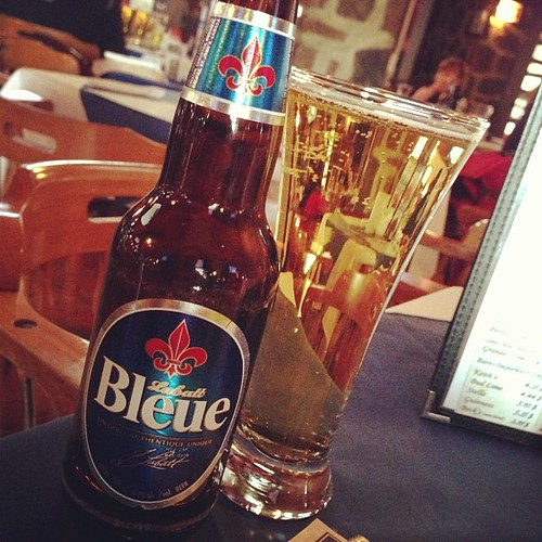 Labatt Bleu, the perfect accompaniment to the Habs game at the local pub.  #notexactlyQuebecbeer