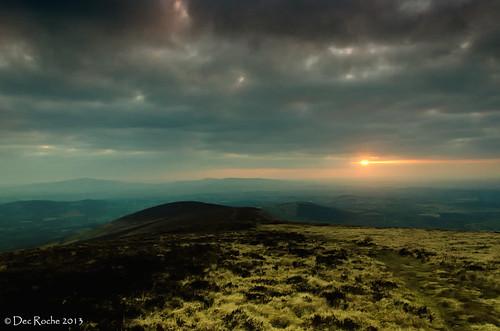 ireland sunset mountain landscape scenery