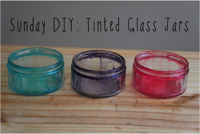 diy tinted glass jars