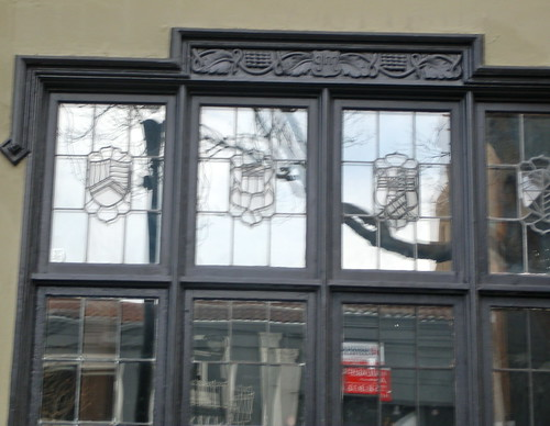 original windows - former Gantner-Maison Funeral Directors, San Francisco, Calif.