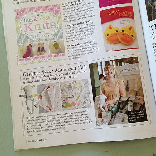 Finally got my hands on the latest issue of Mollie Makes magazine and look! There's me!! @molliemakes #molliemakes