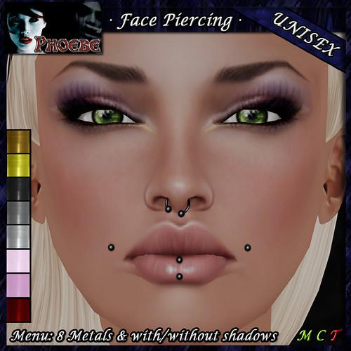 *P* Unisex Face Piercing P5 ~8 Metals~