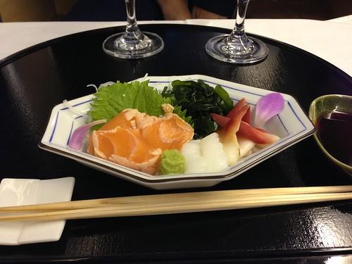 ANA NH7 SFO-NRT First Class Meal