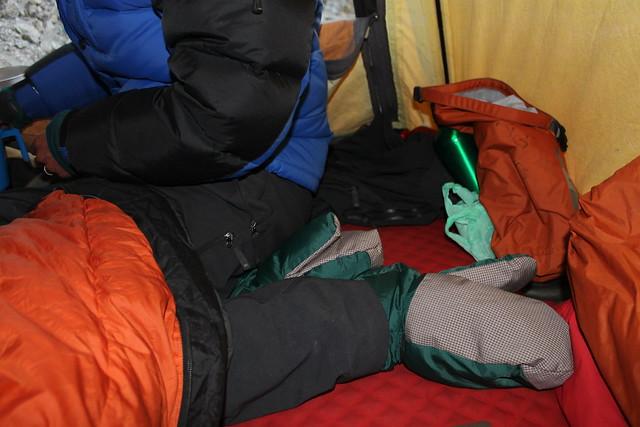 Alien feet at Tashi Labsta high camp