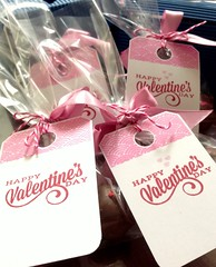 party favor, gift, label, pink, valentine's day,