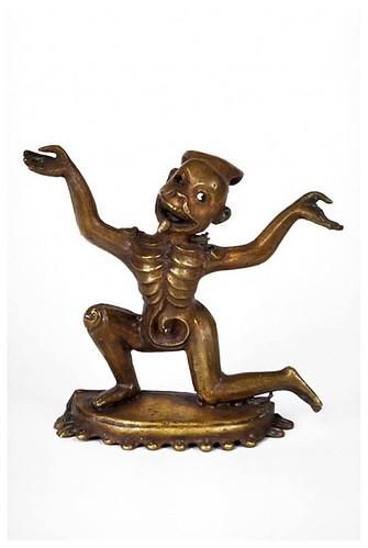 004- Chitipati, señor de los motivos funerarios-1800-Tibet