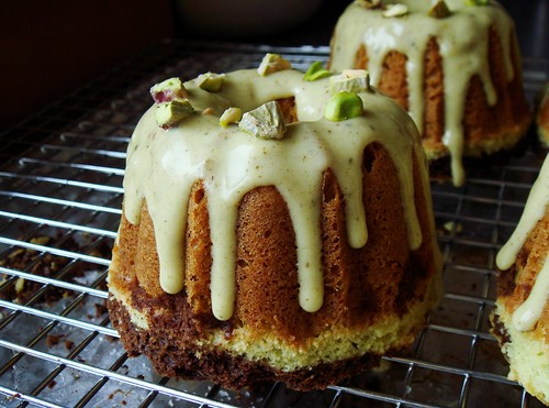 Pistachio Chocolate Mini Bundt