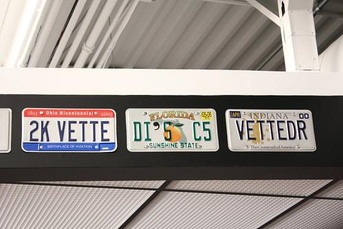 Corvette Licence Plates
