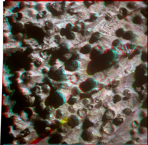 Opportunity sol 3247 Microscopic Imager Kirkwood newberries anaglyph