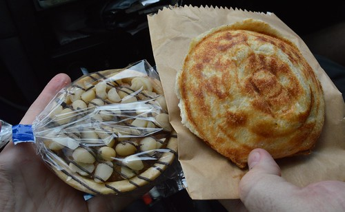 Caramel Macadamia pie & Jaffle!