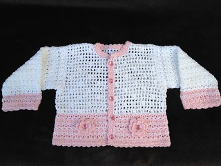 Baby Girl Crocheted Sweater