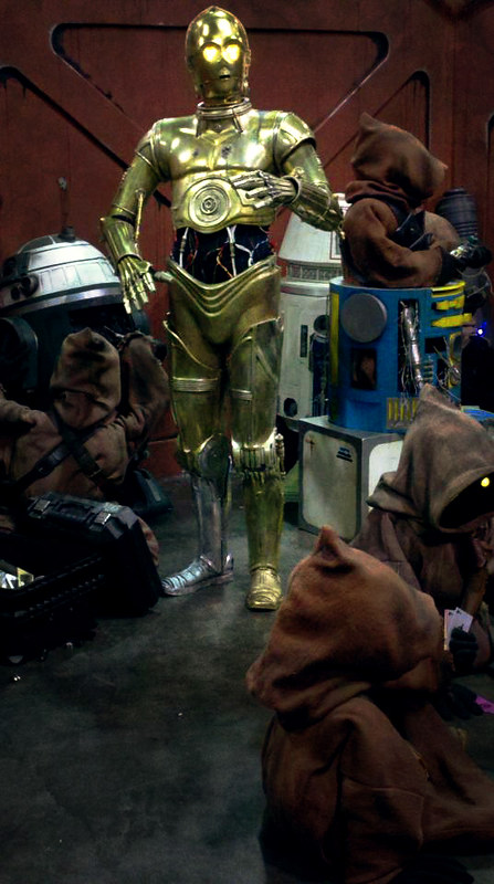 Threepio and Jawas