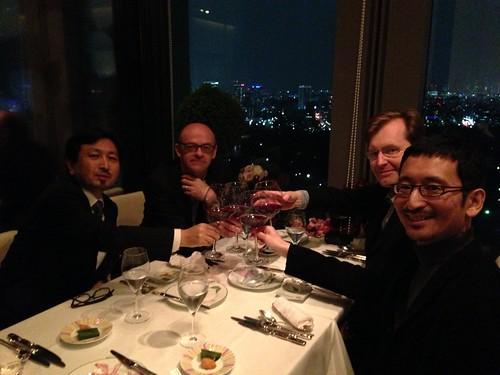 University of ExeterのWatkins教授、Mullan教授と、東京大学の下山教授と。