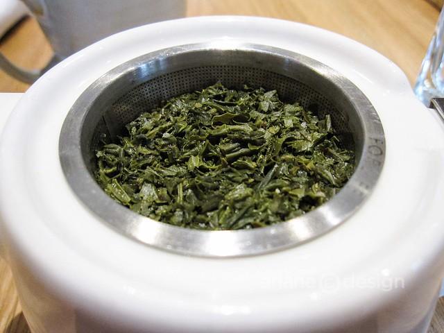 Brunch at forage/Sencha green tea