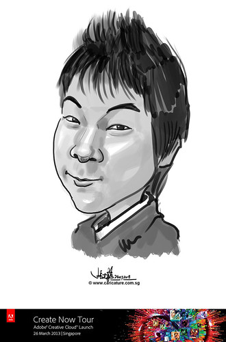 digital caricature for Adobe Create Now Tour - 6