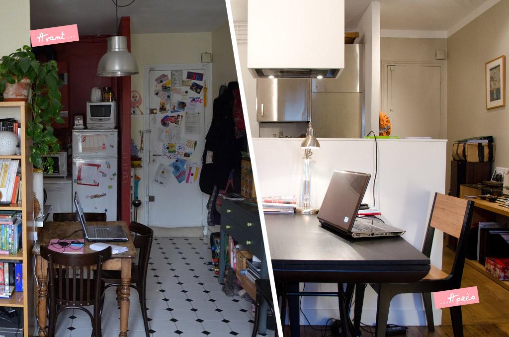 Le relooking d 39 un appartement parisien et si on se for Relooking appartement
