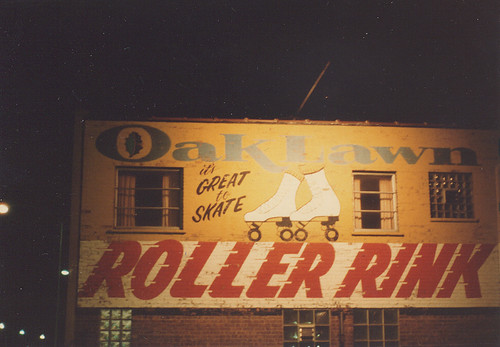 The Oak Lawn Roller Rink o South Cicero Avenue. (Gone-Demolished.)  Oak Lawn Illinois.  May 1983. by Eddie from Chicago