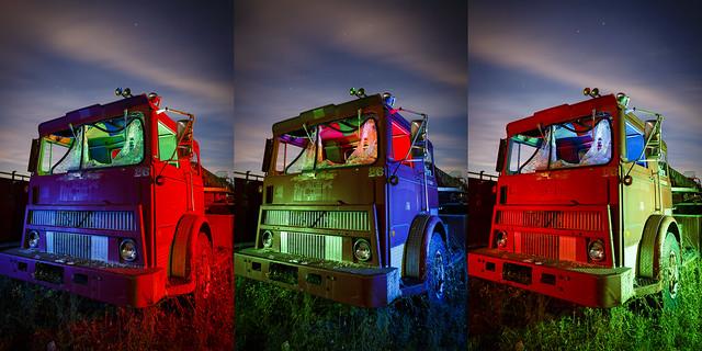 RGB Fire Engine Triptych