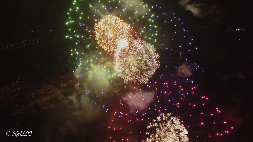 花火を空から観る