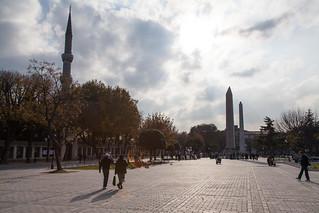 صورة Obelisk of Theodosius قرب Eminönü. turkey istanbul dikilitaş obeliskoftheodosius