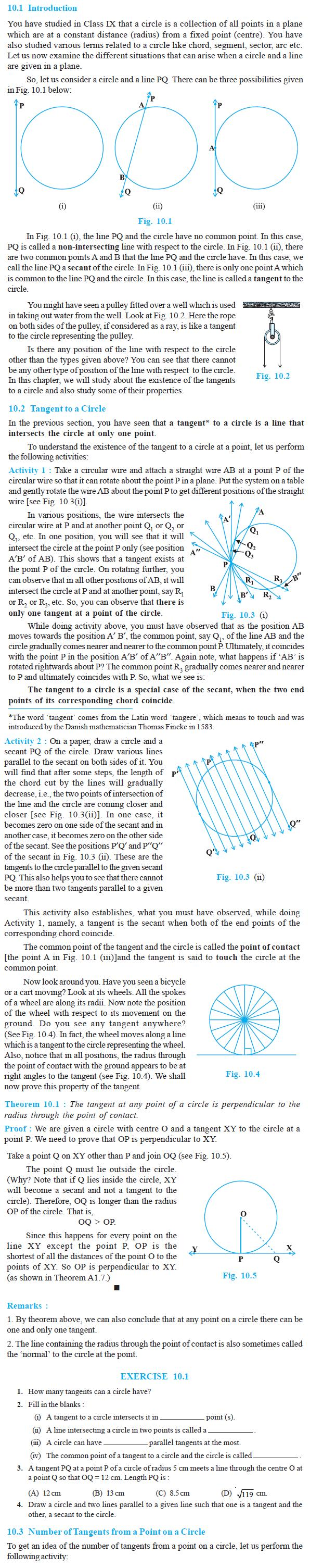 NCERT Class X Maths: Chapter 10 - Circles