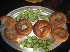 fried food(0.0), produce(0.0), dessert(0.0), meal(1.0), baked goods(1.0), food(1.0), dish(1.0), cuisine(1.0), snack food(1.0), bagel(1.0),