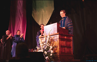 President David Oxtoby at his inauguration in 2003