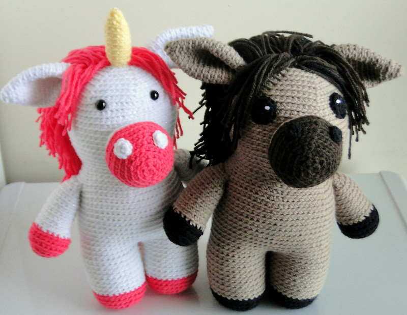 unicorn and horse together