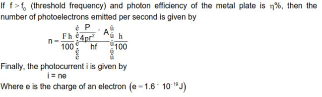 CBSE Class 12 Physics Notes: Dual Nature of Radiation and Matter - Determining the Photoelectric Currecent