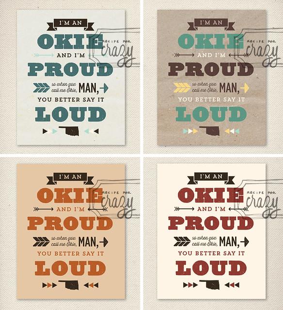 Okie Pride - 8x10 print