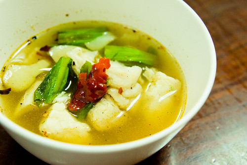 Thai's Tomyum Pla : Boiled Fish in Spicy Soup ต้มยำปลา