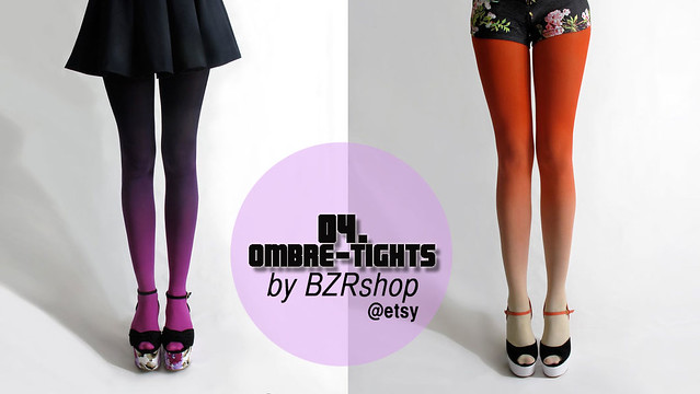 Ombré Tights by BZR shop via Etsi