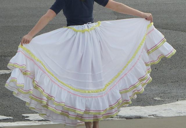 very full petticoat