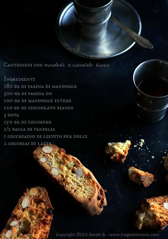 Cantuccini con mandorle e cioccolato bianco testo