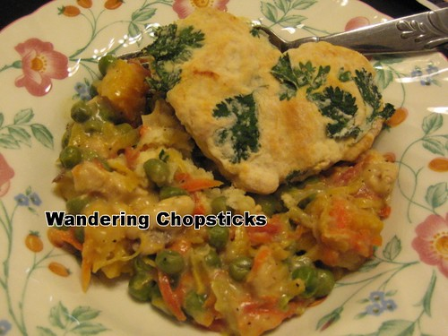 Chicken Pot Pie with Cilantro Biscuits 10