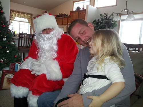 Santa visits Ashlyn by northwoodsluna
