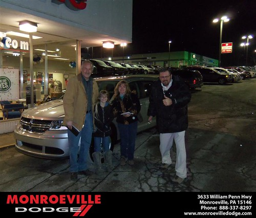 Congratulations to Ken Lang on the 2013 Dodge Journey by Monroeville Dodge