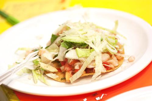 shrimp tostada @ tostadas coyoacan