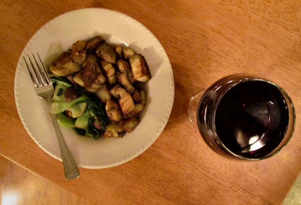 Veggie Dinner with Cabernet