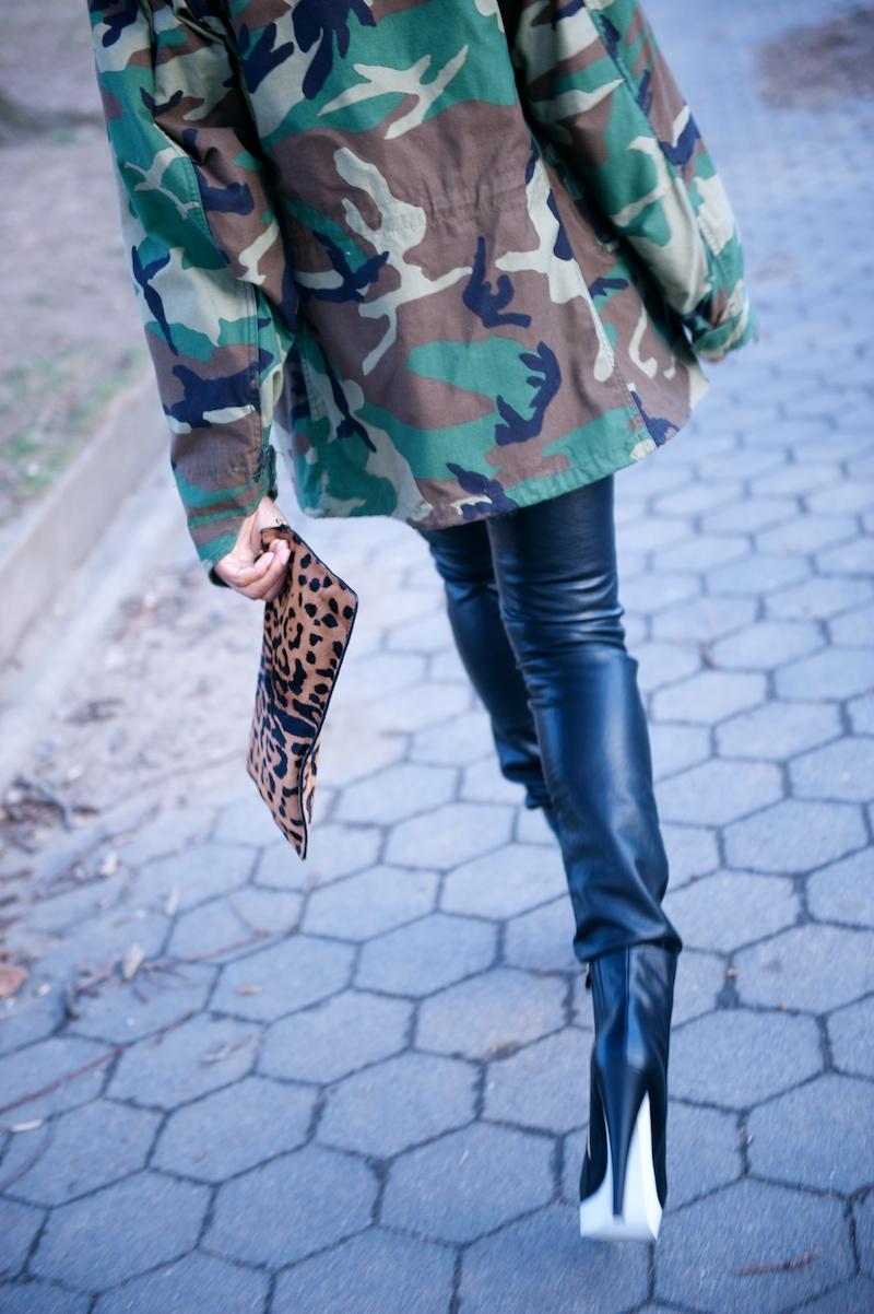 Jerome Dreyfuss leopard print clutch