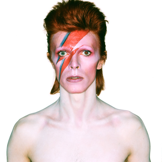 Album cover shoot for Aladdin Sane, 1973. Photo by Brian Duffy, Duffy Archive