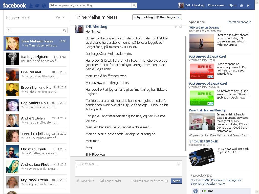 facebook melding søstera til espen melheim