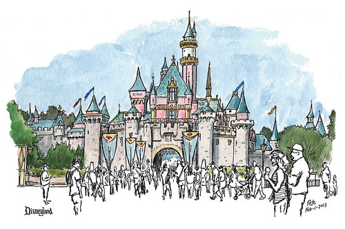 Go Back > Gallery For > Disneyland Castle Drawing Sleeping Beauty Castle Coloring Pages
