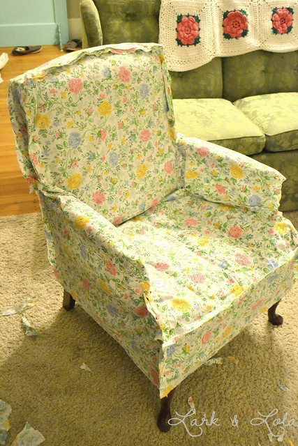 how to make a slipcover out of a sheet