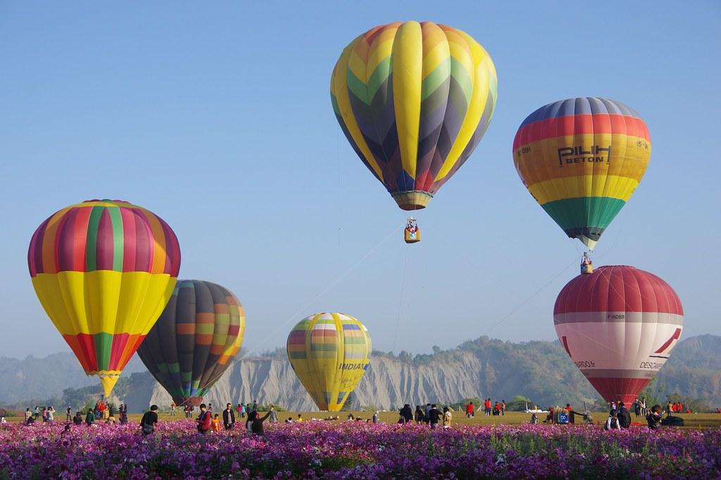 台南 走馬瀨農場 熱氣球 一張流