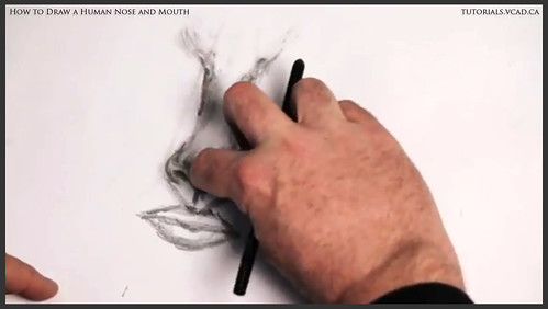 learn how to draw a human nose and mouth 010