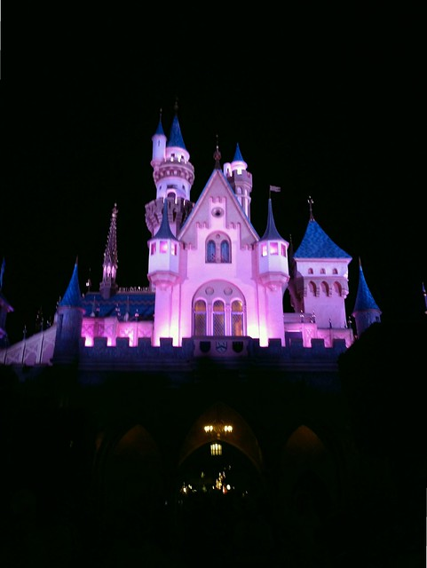 Running through Sleeping Beauty's Castle during Tinker Bell Half Marathon