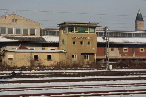 Abandoned signal box at Regensburg Hbf